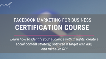 FB marketing certification